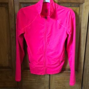 Hot pink lounge full zip w/ pockets & thumb holes